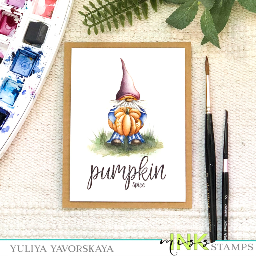 Pumpkin Spice Gnome card with Yuliya