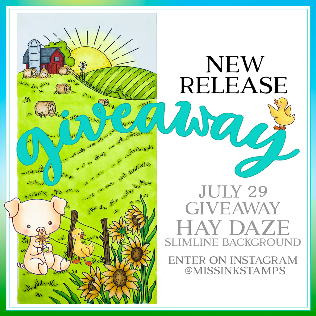 New Release Giveaway and Slimline Background Stamps!