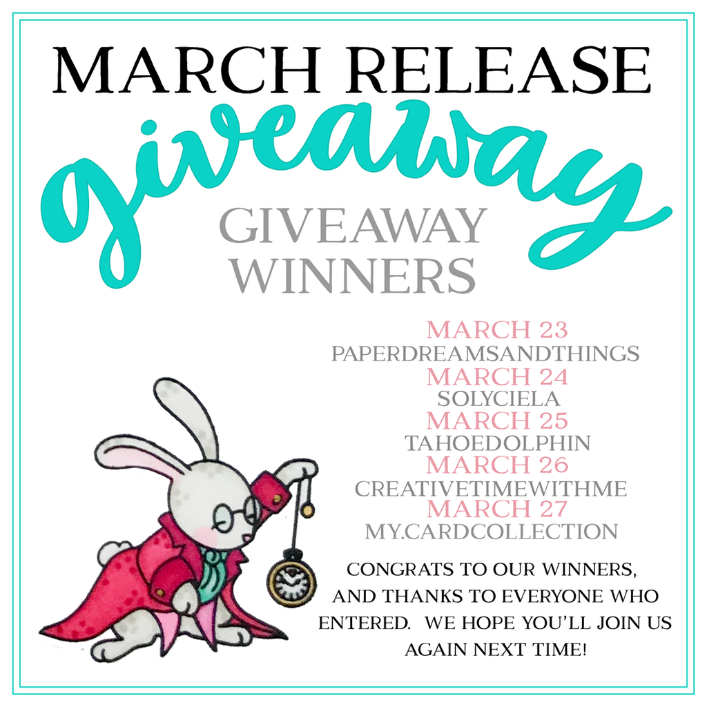 March Giveaway Winners