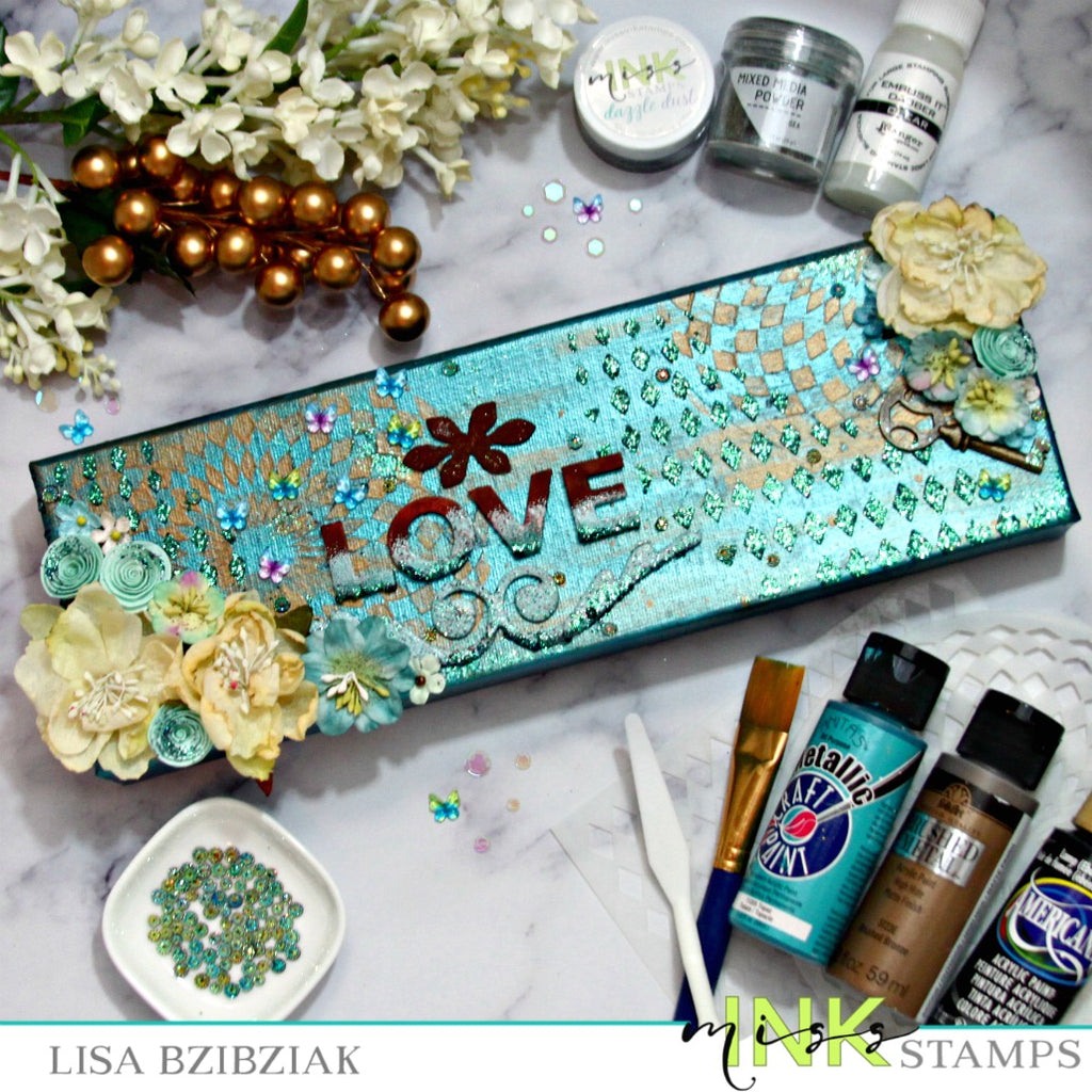 Mixing It Up - Stencils and Glitter and Doodads Oh My!