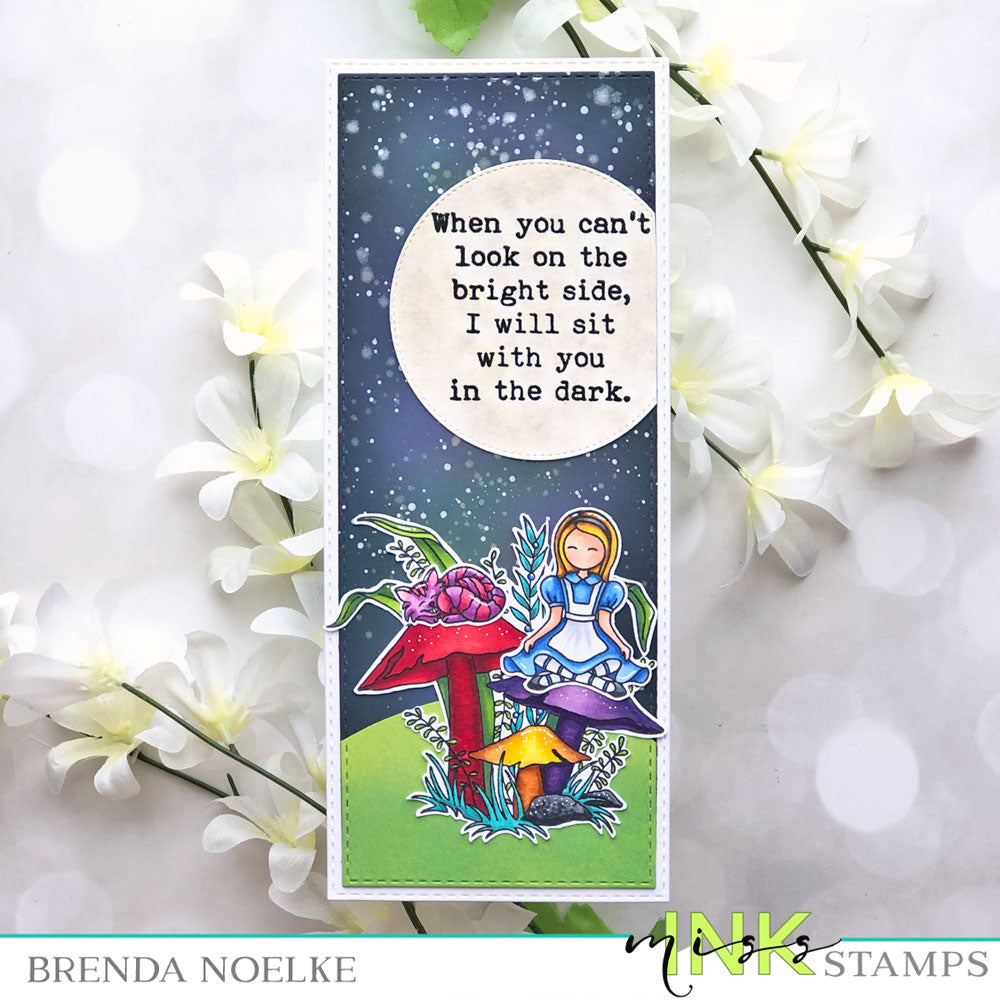 Step Up Your Cardmaking with Brenda - Slimline Card