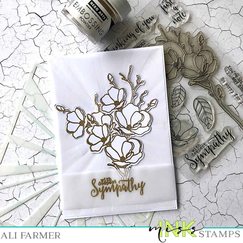Classic White & Gold - How to dry emboss using stencils