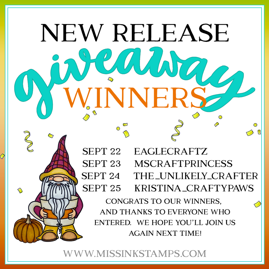 New Release Giveaway Winners!