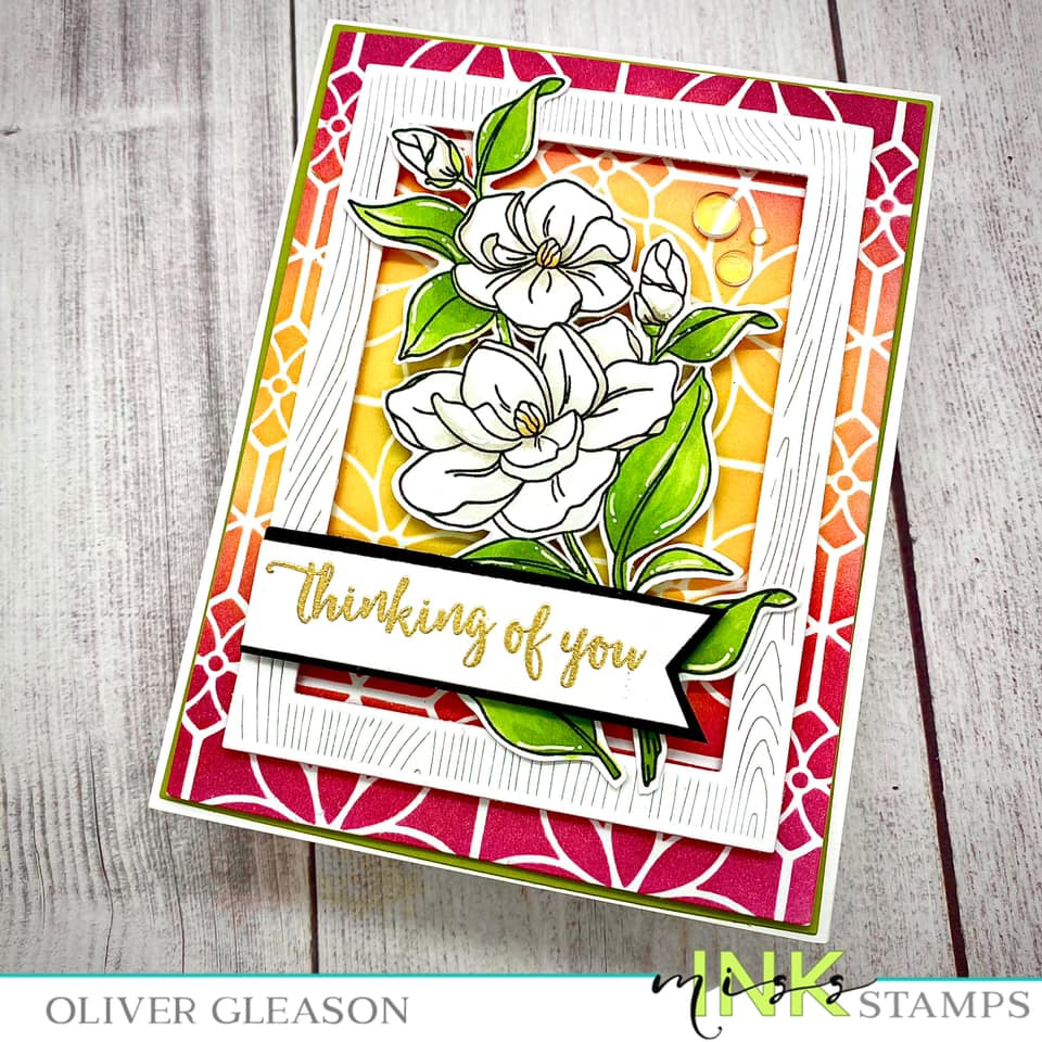 Floral Stained Glass Stencil