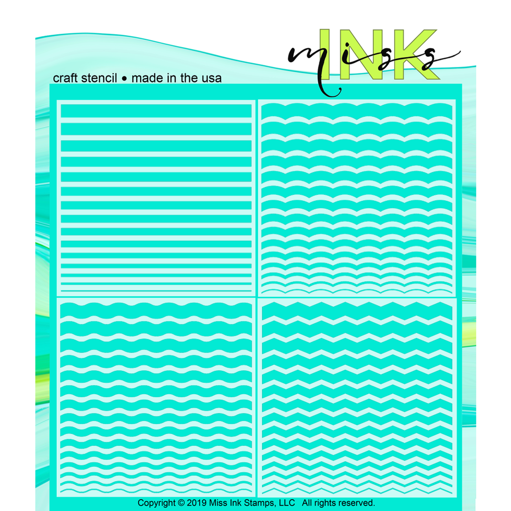 Basics Bundle--Stripes, Scallop, Waves, Chevron