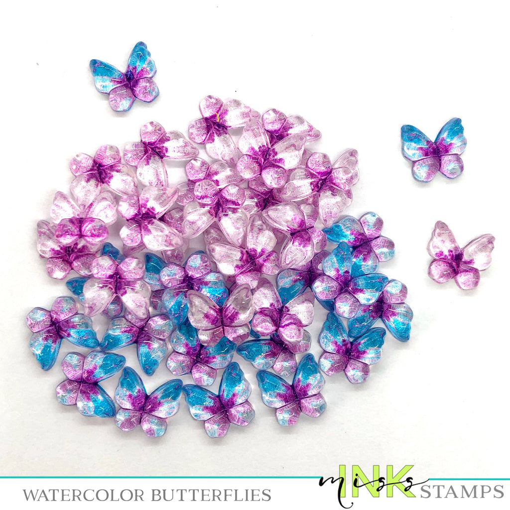 Watercolor Butterflies--Purple and Blues