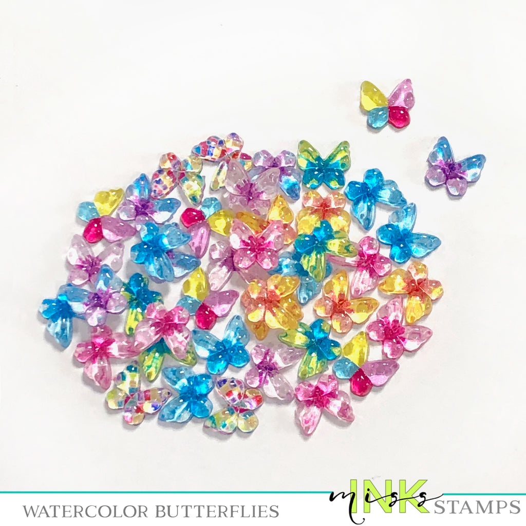 Watercolor Butterflies--Mixed Colors