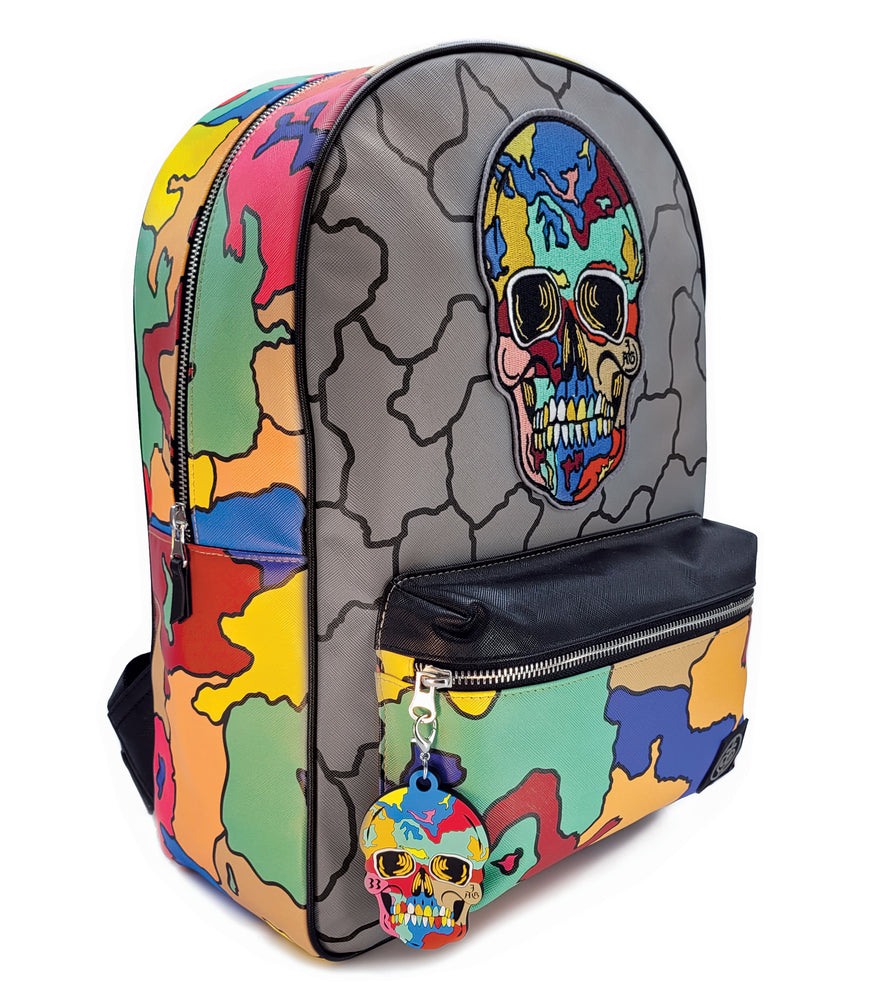 Crack Skull Designer Backpack