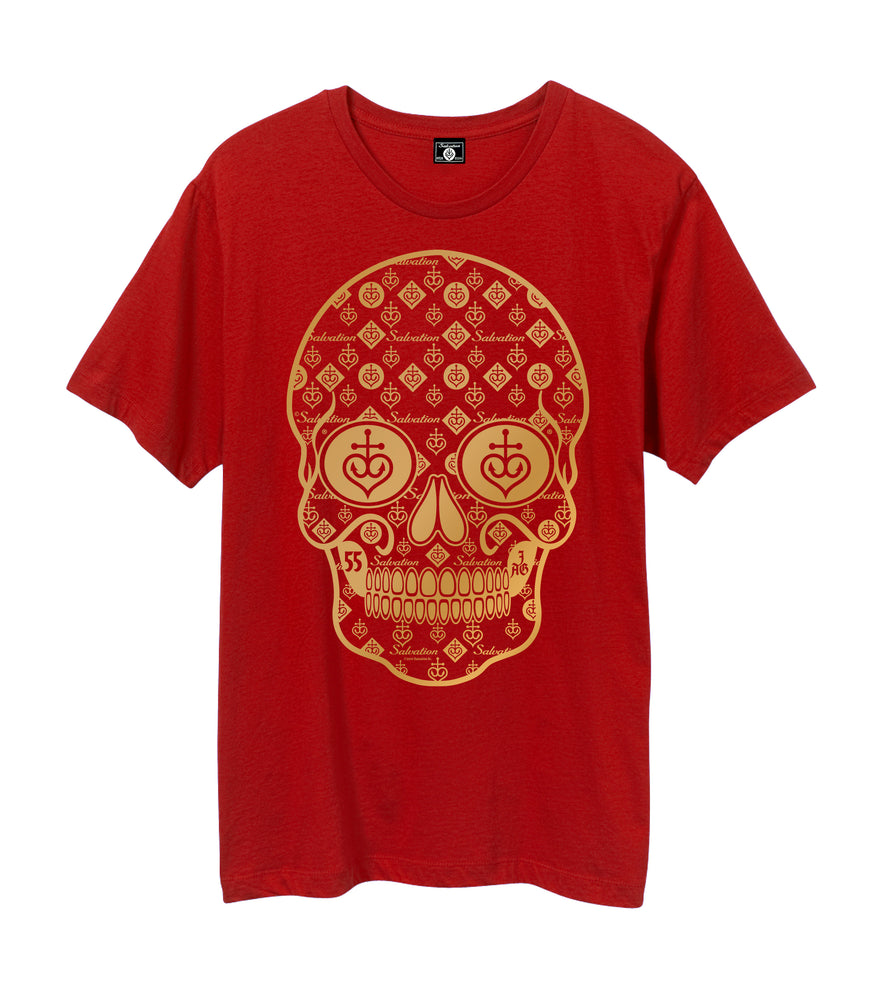 Men's Gold Foil Repeated Skull (2 colors)