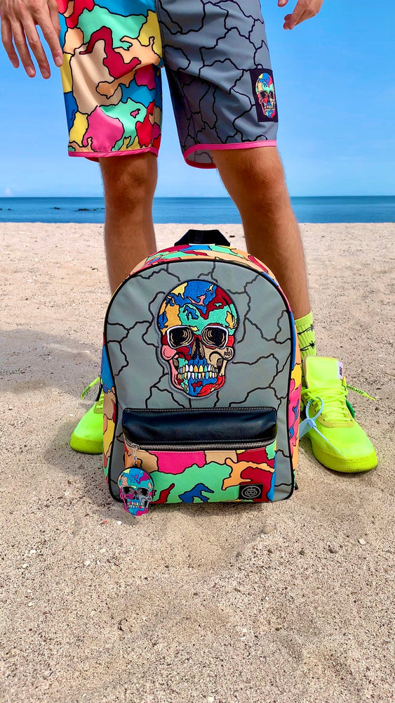 Cracked Skull Backpack