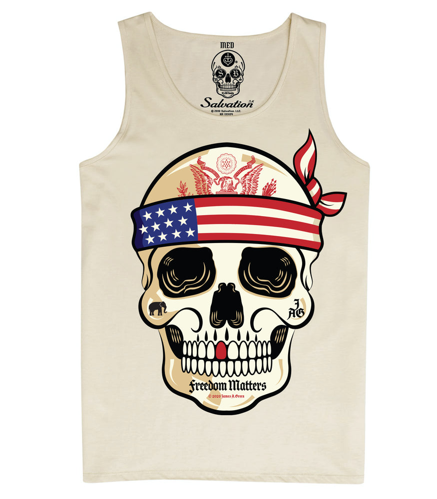 usa skull tank top united states