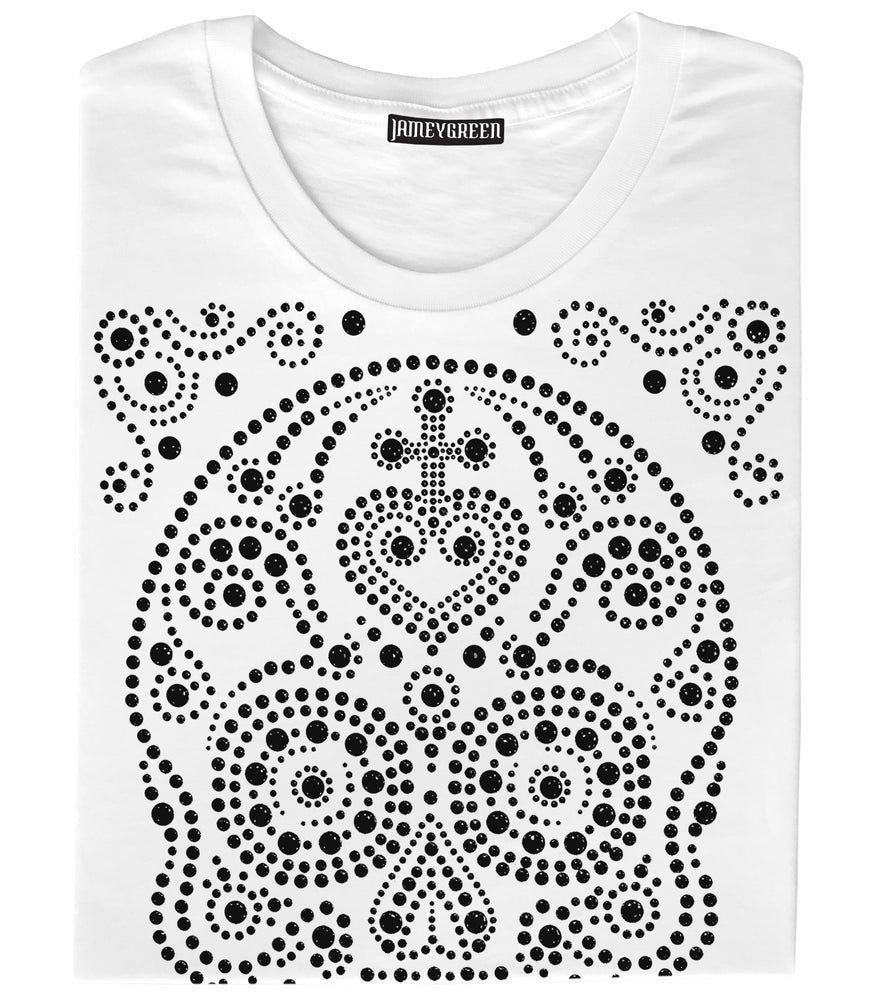 Skull Studded T-shirt - Black Studs