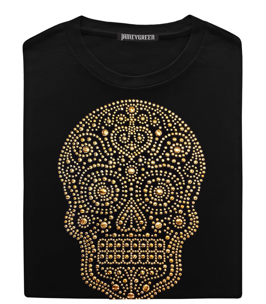 Skull Gold Studded T-shirt - women