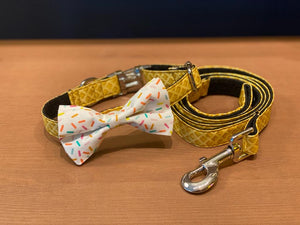 Waffle Collar With Ice Cream Bow Tie