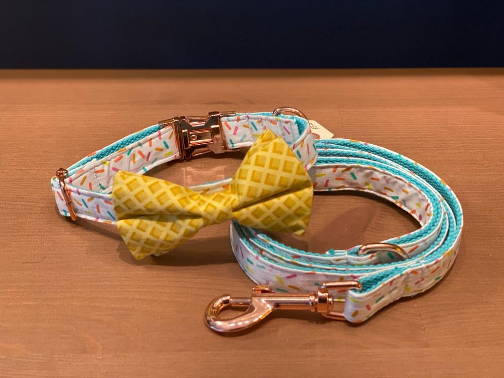 Ice-Cream Collar With Matching Bow Tie