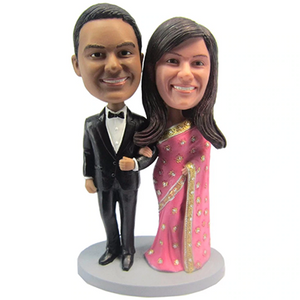 India Couple Wedding Custom Bobblehead