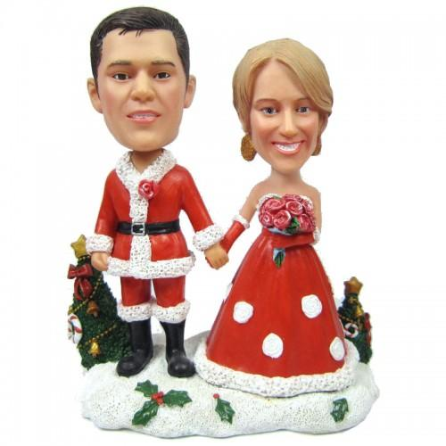 Christmas Gift Bride and Groom Custom Bobblehead