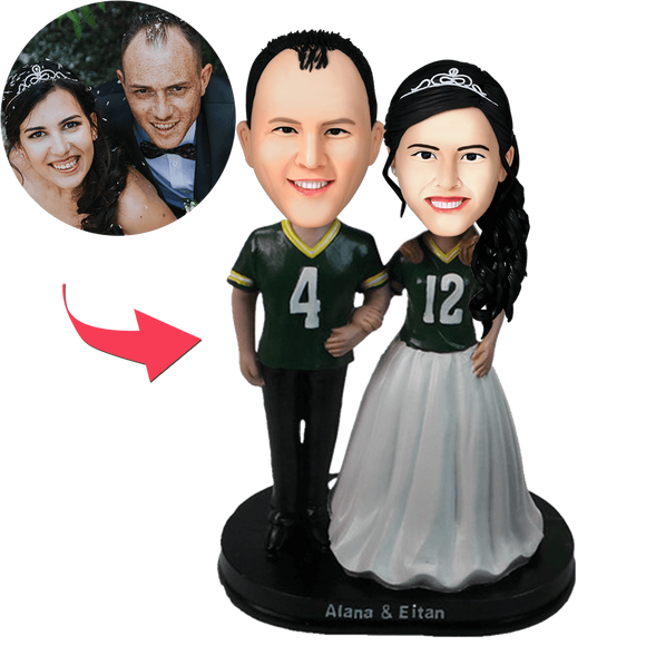 Couple in sport jersey Custom Bobblehead