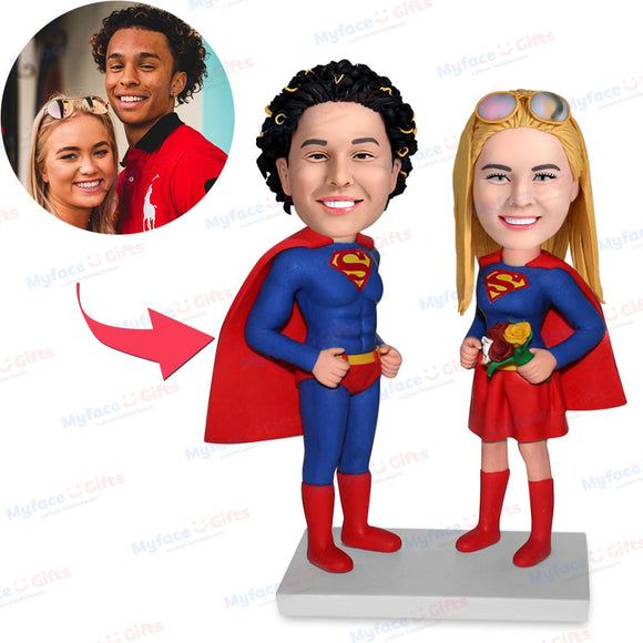 Couples Superman Custom Bobblehead