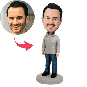 Stylish Casual Male Custom Bobblehead