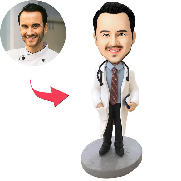 Doctor With Stethoscope - A Custom Bobblehead