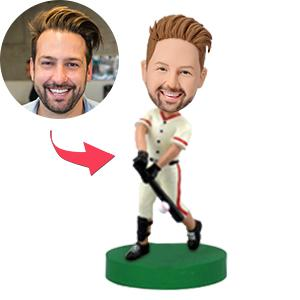 Baseball Player Swinging the Bat Custom Bobblehead