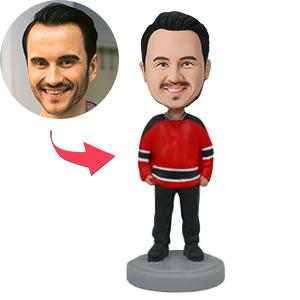 Man In Sports Jersey Custom Bobblehead
