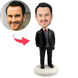 Male Occupation In Business Suit With Sweater Custom Bobblehead