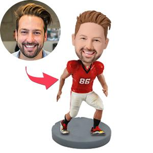 Male Football Player Premium Figure Custom Bobblehead