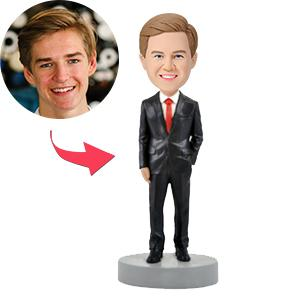 Male Executive in Power Suit B Custom Bobblehead
