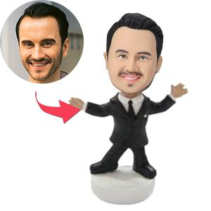Charismatic Male Executive Custom Bobblehead