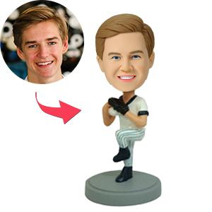 Baseball Pitcher Custom Bobblehead