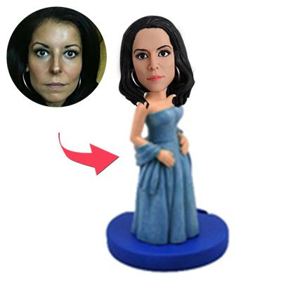 Woman In Elegant Eveningwear Custom Bobblehead