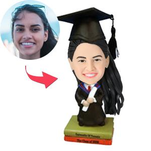 Female Graduate Custom Bobblehead