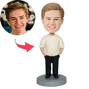 Relaxed Male With Hands In Pockets Custom Bobblehead