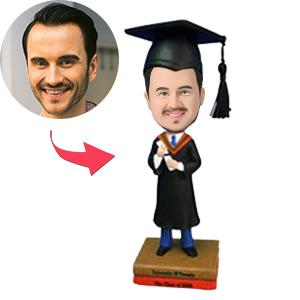 Male Graduate With Diploma Custom Bobblehead