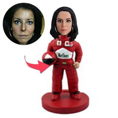 Racing Car Driver Custom Bobblehead