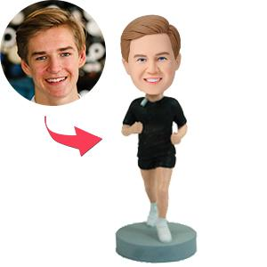 Male Runner Custom Bobblehead