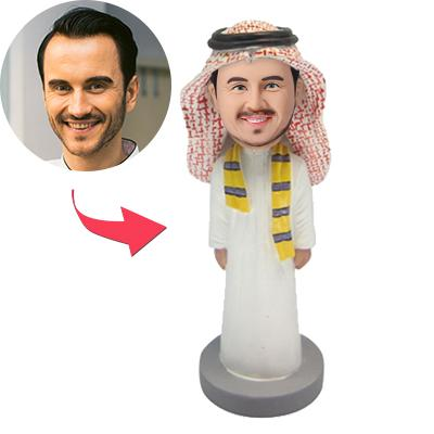Man Dressed In Arab Garb Custom Bobblehead