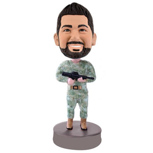 Cool Marines Holding Gun Custom Bobblehead The Middle East