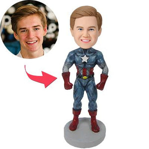 Captain America B Custom Bobblehead