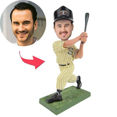 Baseball Batsman Wear yellow clothes Custom Bobblehead