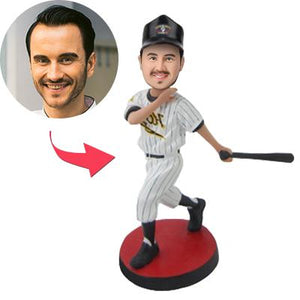 Baseball Batsman Cheer Custom Bobblehead