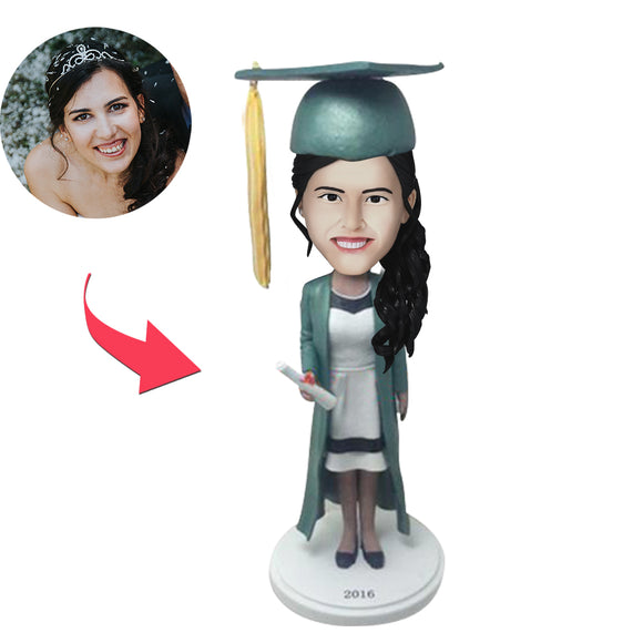 Graduation G Custom Bobblehead