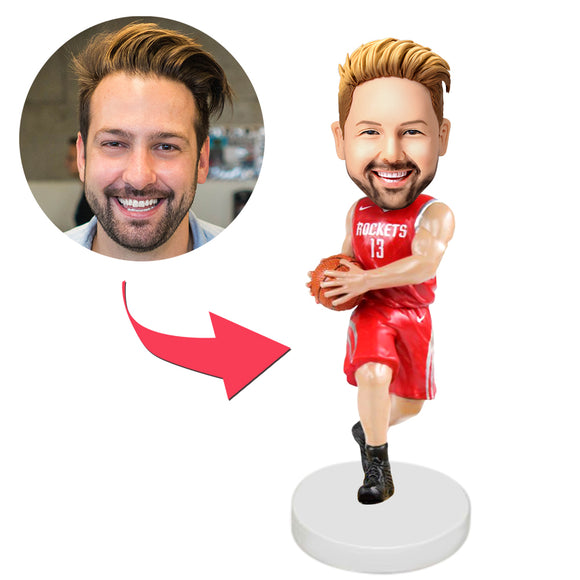Houston Rockets Basketball Player Custom Bobblehead