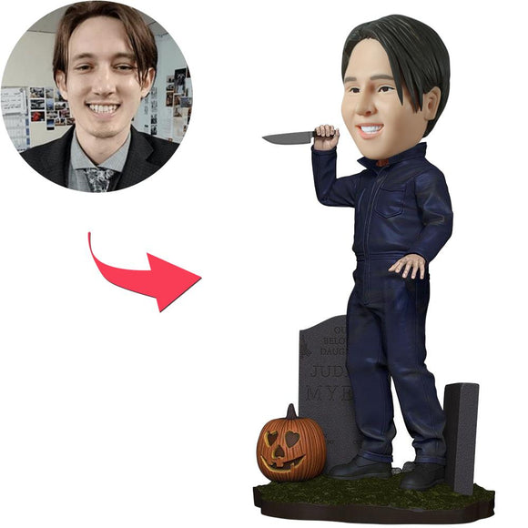 Michael Myers With Gravestone Custom Bobblehead