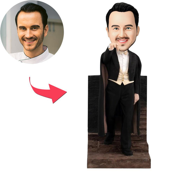Vampire With Cloak Go Down Stairs Custom Bobblehead