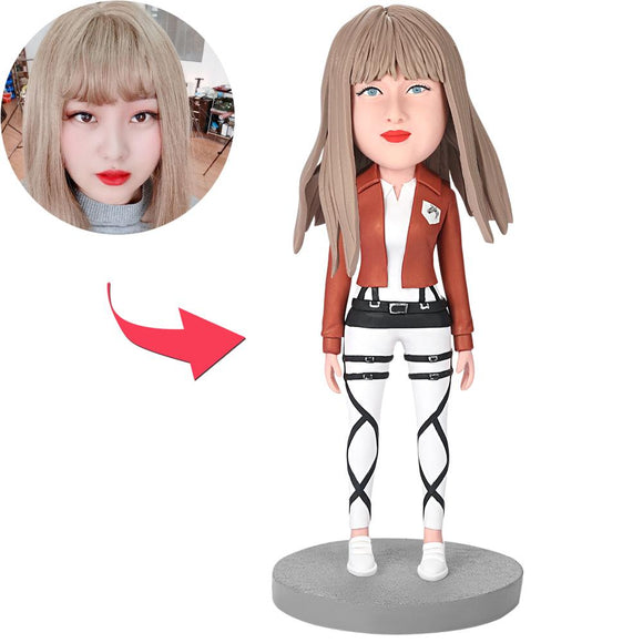 Happy Modern Woman Custom Bobblehead