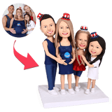 Fully Customizable 4 person Custom Bobblehead