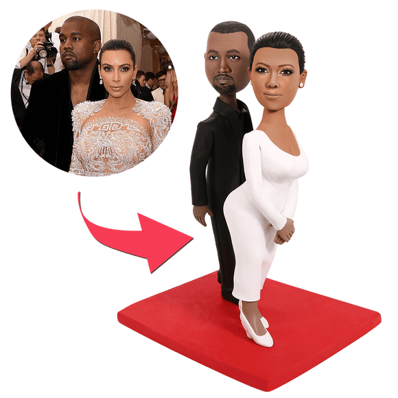 Kanye and kardashian Custom Bobbleheads